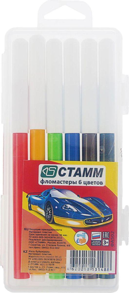 Стамм Набор фломастеров Автомобили 6 цветов2187688