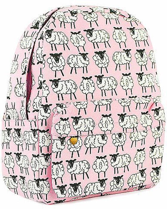 Рюкзак женский Kawaii Factory Овечки, цвет: розовый, белый. KW102-000318KW102-000318