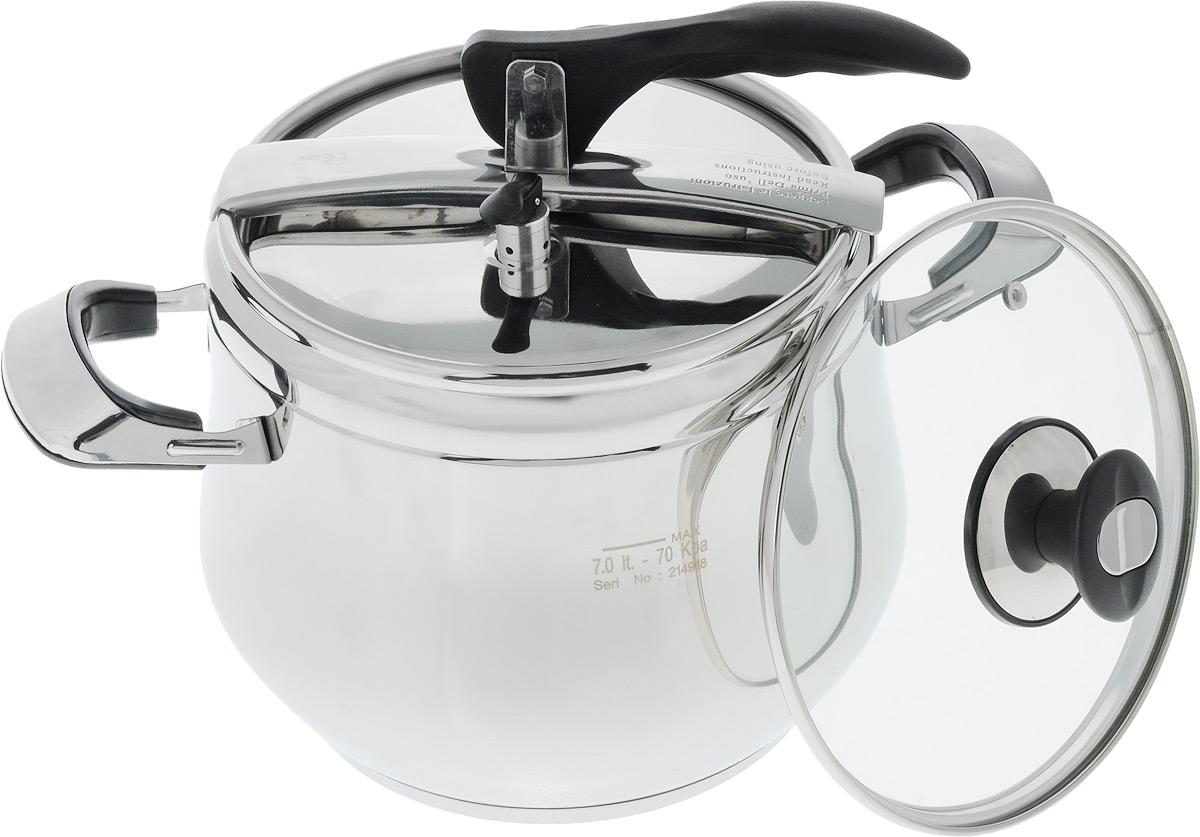 Скороварка Bohmann, 7 л. 3573BH3573BHСкороварка Среди всех кухонных приборов только скороварка позволяет готовить в 2 раза быстрее обычного. Продукты готовятся в герметичной емкости под давлением, не теряя при этом полезных веществ и сохраняя натуральный вкус и аромат. 7л. Скороварка Дополнительно - стеклянная крышка. Объем: 7л.
