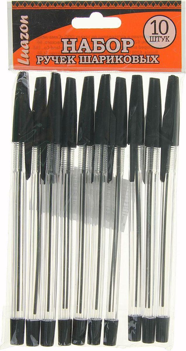 Набор шариковых ручек черные 10 шт1592430
