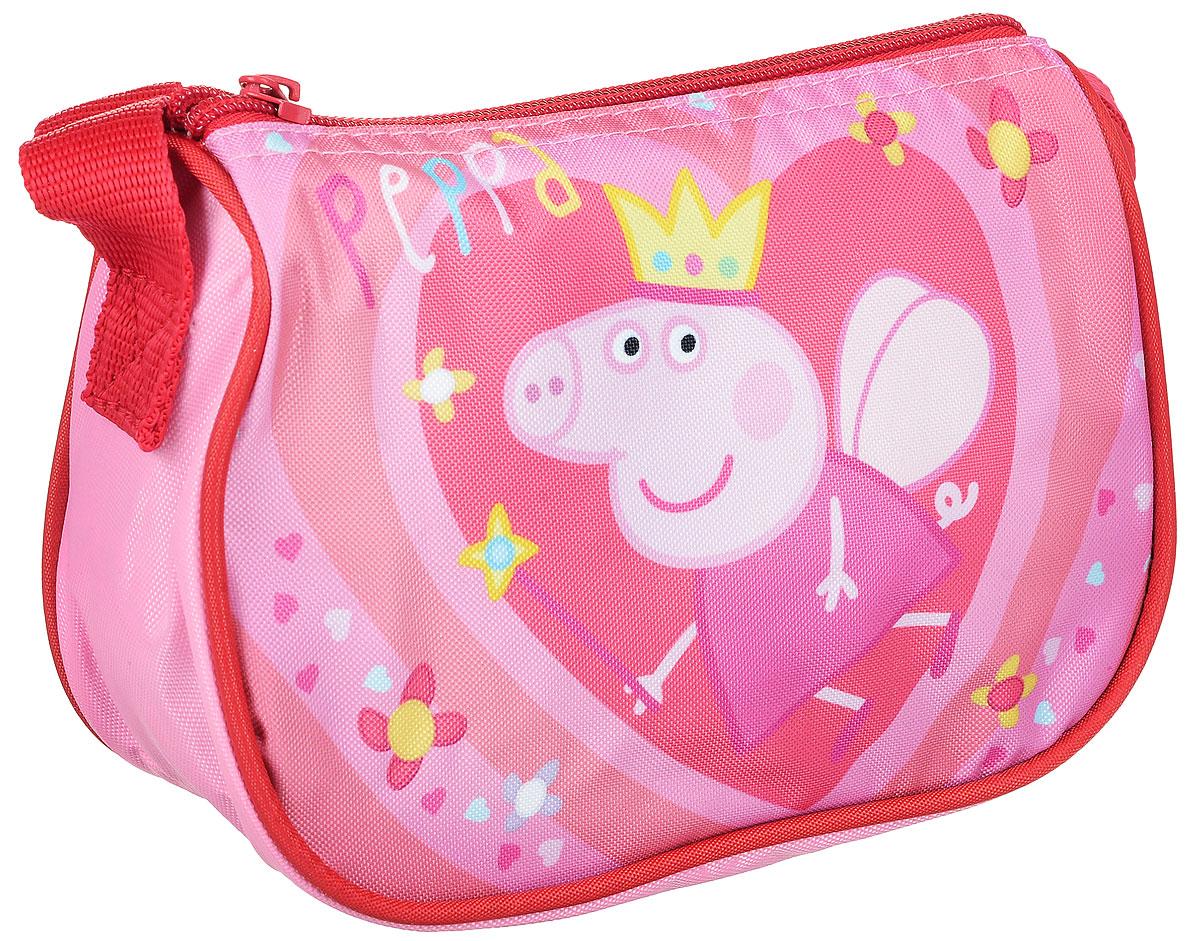 Peppa Pig Сумка детская КоролеваPLCB-MT1-883Детская сумка Peppa Pig Королева обязательно понравится каждой любительнице этого популярного мультфильма. Сумка выполнена из прочного полиэстера и украшена изображением свинки Пеппы с короной (сублимированная печать). Сумка имеет одно отделение на молнии и регулируемую по высоте лямку для ношения на плече, таким образом, сумка будет с девочкой на протяжении многих лет. Порадуйте свою малышку таким замечательным подарком!