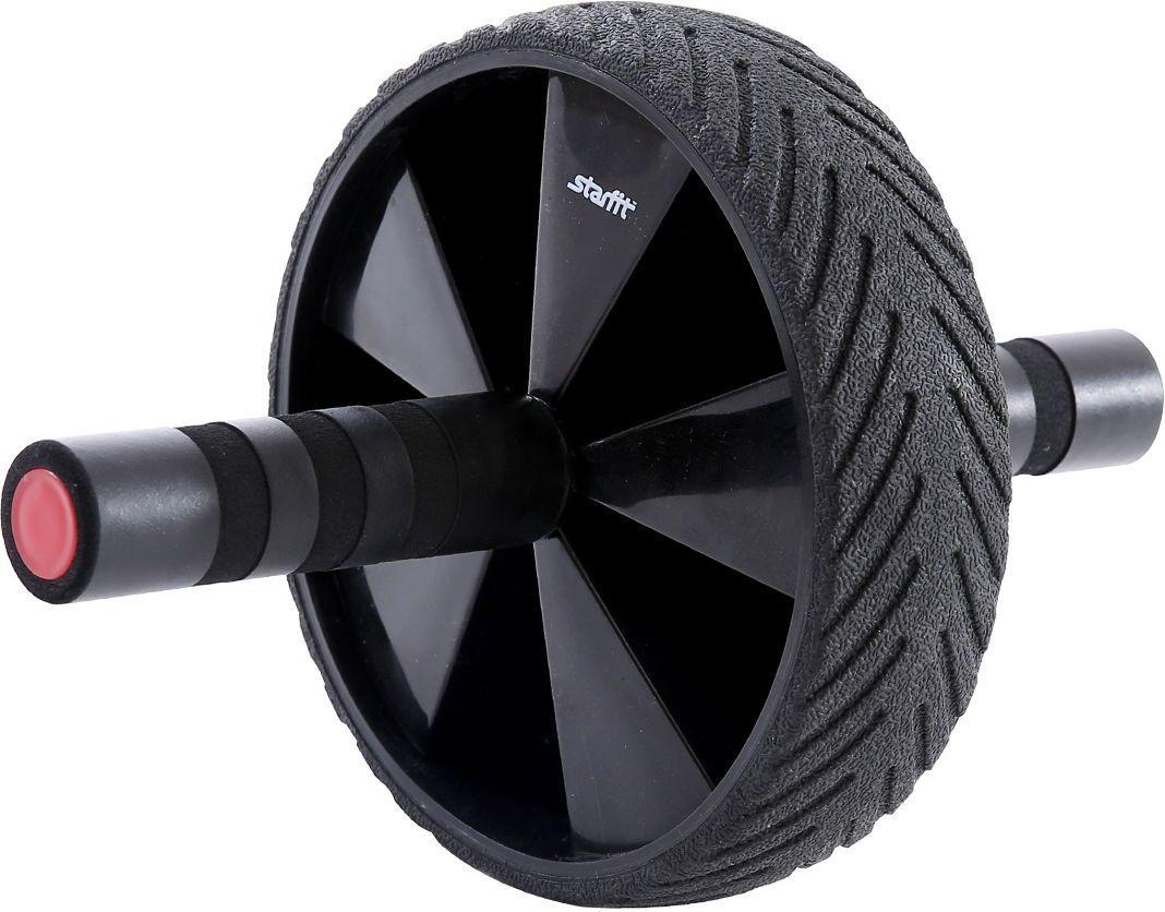 Ролик для пресса Starfit RL-104, цвет: черный, красныйУТ-00009812Ролик для пресса RL-104 – фитнес-снаряд для комплексного укрепления мышц кора и брюшного пресса. Крепкие ручки с мягкими вставками предотвращают образование мозолей. Твердое упругое покрытие роликового колеса повышает сцепление с поверхностью. Модель выполнена в стильном черно-красном дизайне.