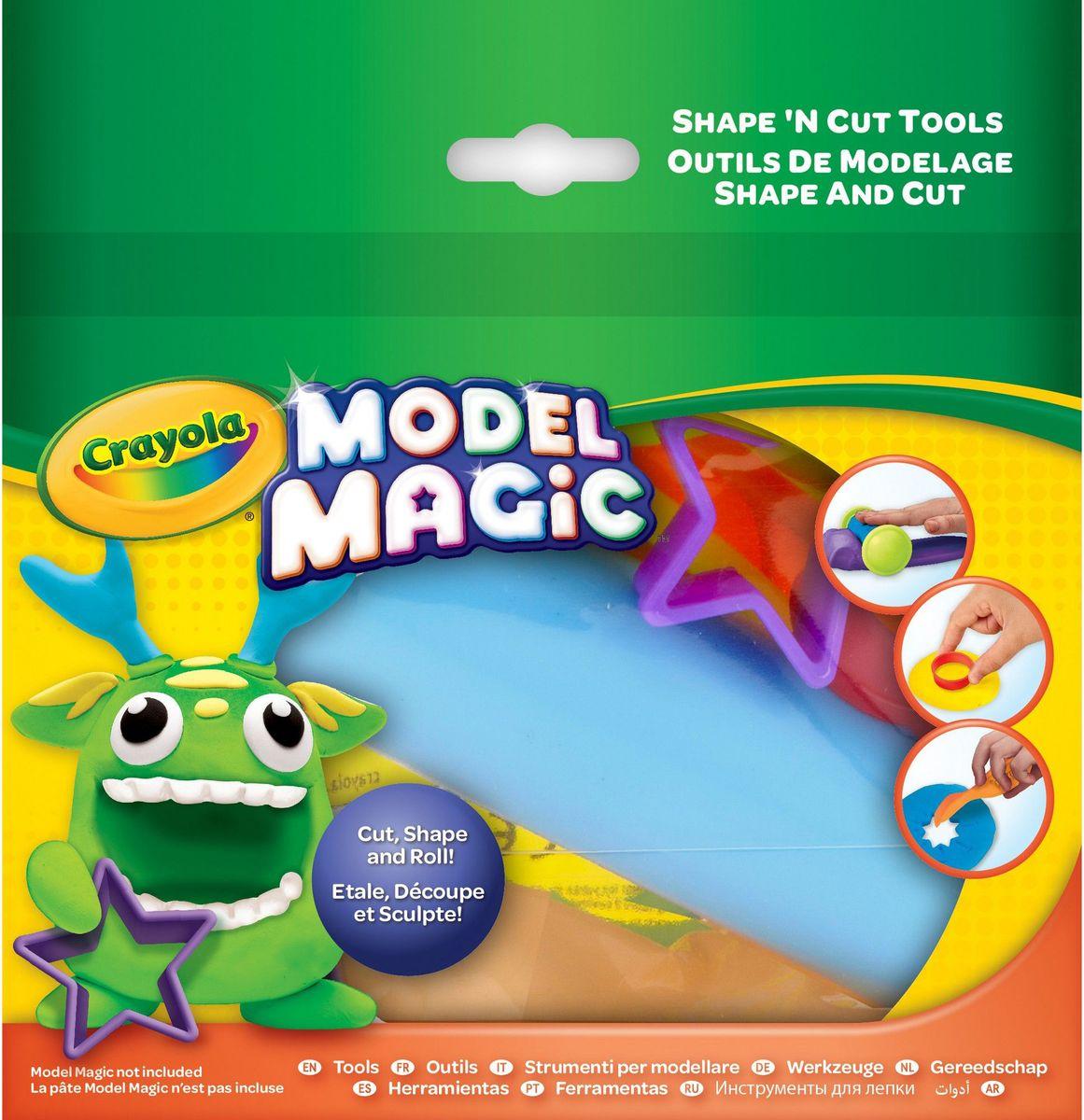 Crayola Набор инструментов для лепки пластилином84701ОНабор инструментов для лепки Crayola предназначен для деток, которым уже исполнилось четыре года. Яркие фигурки, по форме напоминающие сердечко, звездочку, кружочек, а также удобную раскатку для пластилина, помогут вашему малышу создать чудесные фигурки зверюшек, фруктиков, овощей и многое другое, что придет ему в голову. С данным набором инструментов ребенку будет не сложно придумать, что он будет лепить сегодня. Данный набор включает в себя шесть приспособление для лепки, выполненных из пластмассы высокого качества в насыщенных цветах. Упаковка квадратной формы сможет поразить малыша своими выразительными цветами.