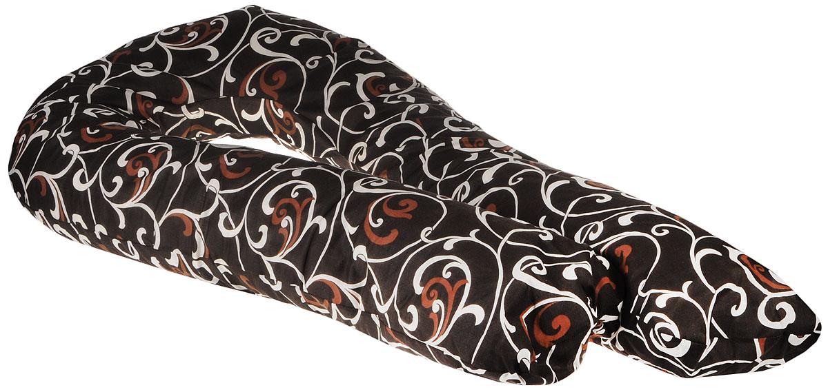 Body Pillow Подушка для беременных и кормящих U-образная цвет шоколадный