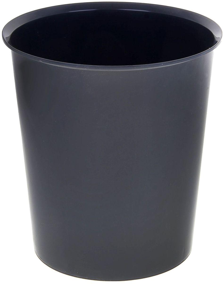 Стамм Корзина для бумаг 14 л цвет серый 1083072
