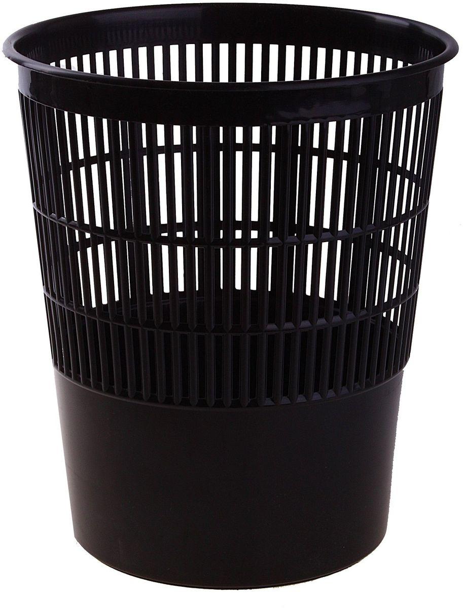 Стамм Корзина для бумаг 14 л цвет черный 584830