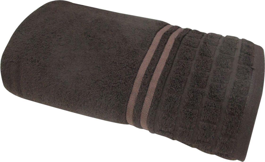 Полотенце махровое Bravo Лана, цвет: темно-коричневый, 100 х 150 см68/5/2Полотенце Лана выполнено из натуральной махровой ткани (100% хлопок). Изделие отлично впитывает влагу, быстро сохнет, сохраняет яркость цвета и не теряет форму даже после многократных стирок. Полотенце очень практично и неприхотливо в уходе. Оно создаст прекрасное настроение и украсит интерьер в ванной комнате.