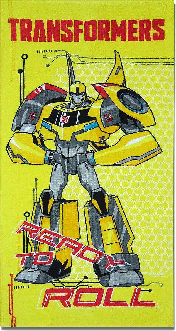 НВ Полотенце детское Хасбро Трансформеры цвет желтый 60 x 120 см 1087_06