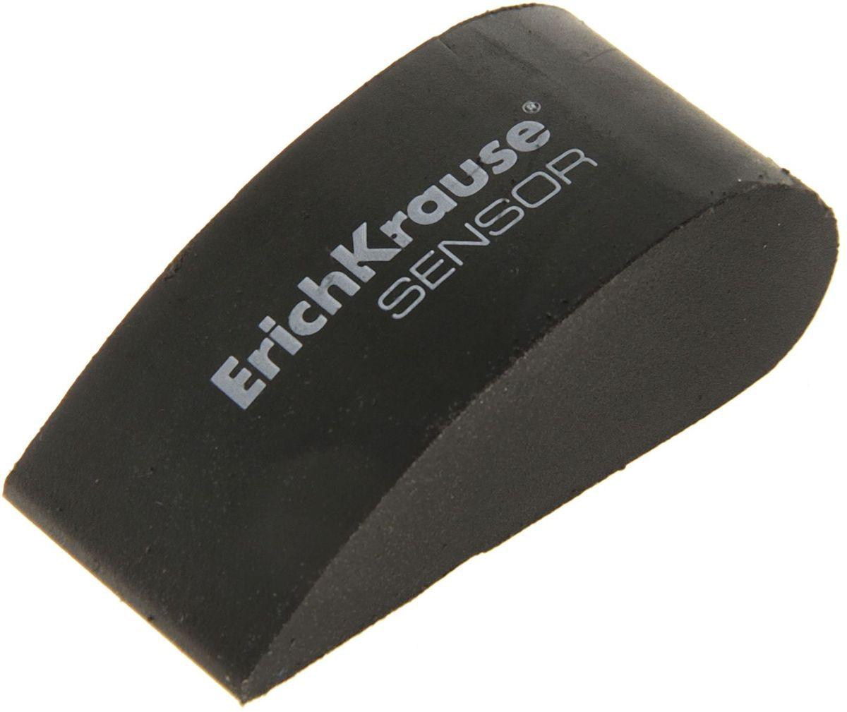 Erich Krause Ластик Sensor цвет черный1050486Мягкие ластики Dust free эргономичной формы - для качественного стирания карандашных линий.