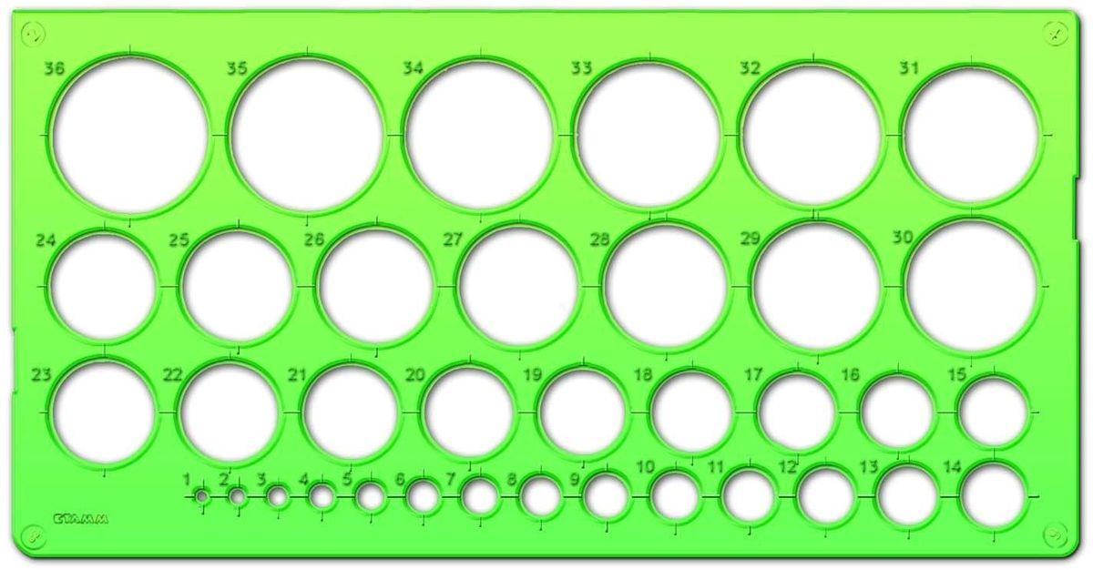 Стамм Трафарет окружностей цвет зеленый195735