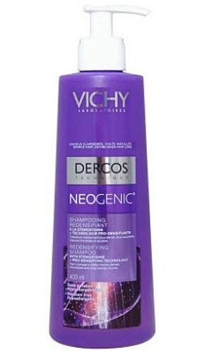 VICHY Neogenic Шампунь для повышения густоты волос 400мл3078Neogenic Шампунь для повышения густоты волос обогащен стайлинговыми компонентами, используемыми в средствах для укладки волос. Укрепляет волосы, делая их более густыми и плотными, обеспечивает мгновенный и продолжительный объем. Уплотняет даже самые тонкие волосы и не утяжеляет прическу. Шампунь легко смывается, оставляя волосы мягкими, блестящими и легко поддающимися укладке.Воздействует на 5 свойств волос для повышения их густоты:1. Объем2. Густота3. Форма4. Сила5. Устойчивость