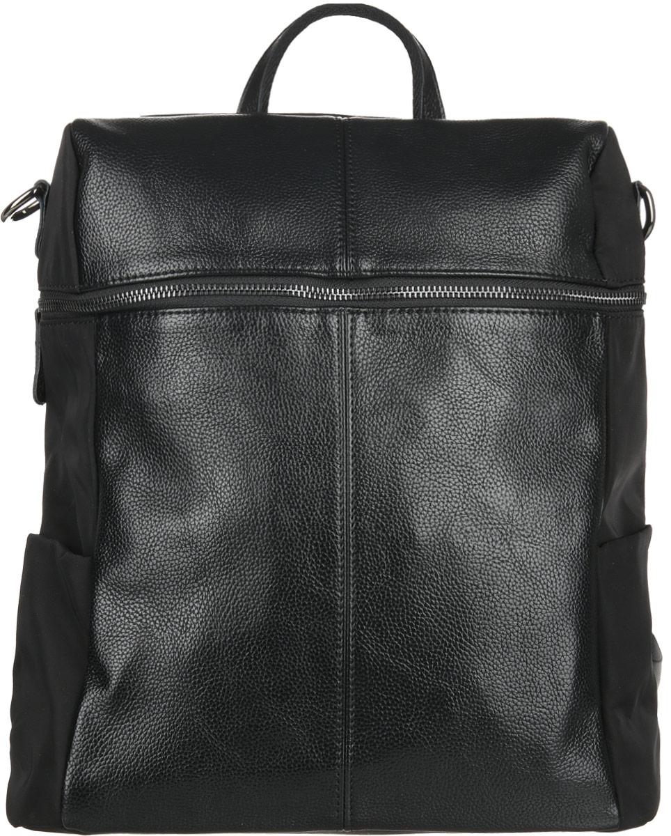 Сумка-рюкзак женская Flioraj, цвет: черный. 00053026BP-001 BKСумка-рюкзак женская Flioraj закрывается на молнию. Внутри - одно отделение, карман на молнии и два открытых кармана.