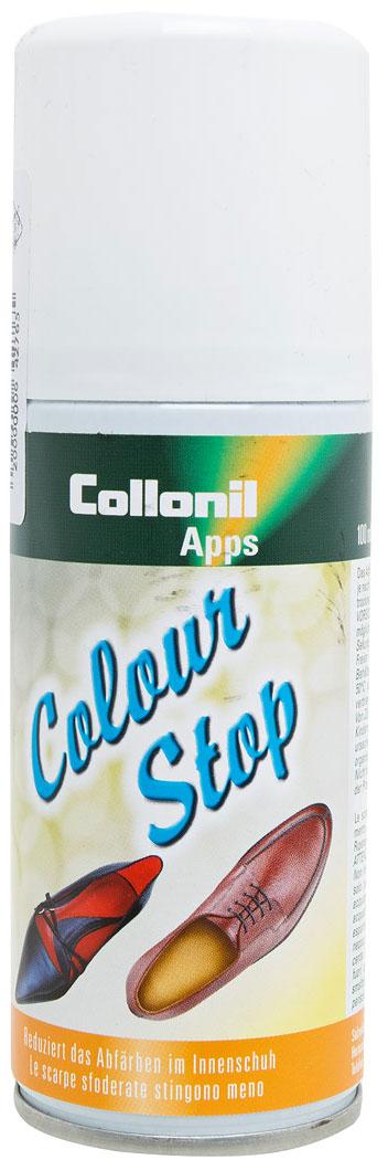 Спрей против окраски обуви Collonil Color-Stop, 100 млSS 4041Спрей Collonil Color-Stop применяется против окрашивания внутренней части обуви. Предотвращает окрашивание ног и чулочно-носочных изделий.Товар сертифицирован.Уважаемые клиенты!Обращаем ваше внимание на возможные изменения в дизайне упаковки. Качественные характеристики товара остаются неизменными. Поставка осуществляется в зависимости от наличия на складе.