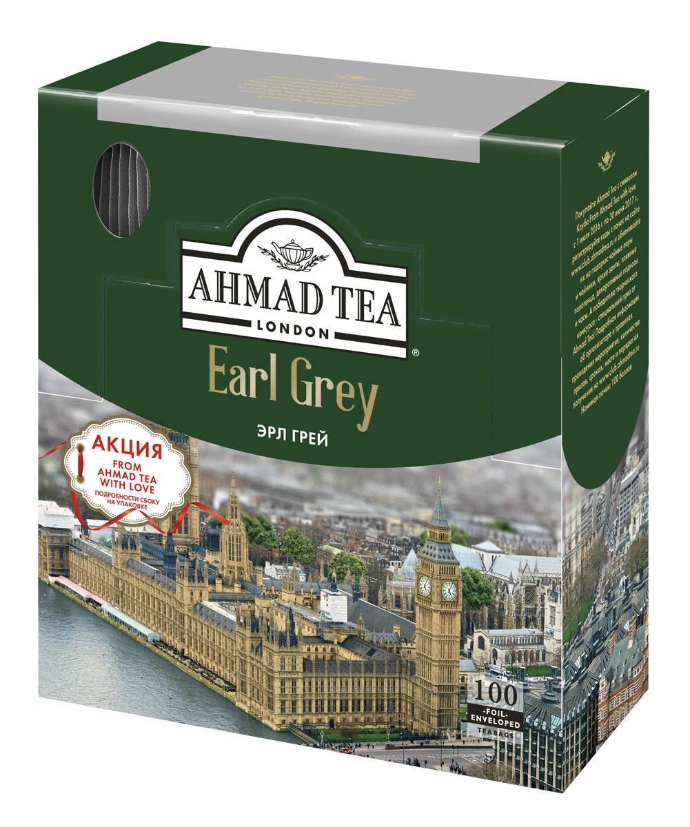 Ahmad Tea Earl Grey черный чай в пакетиках, 100 шт 595LY-08