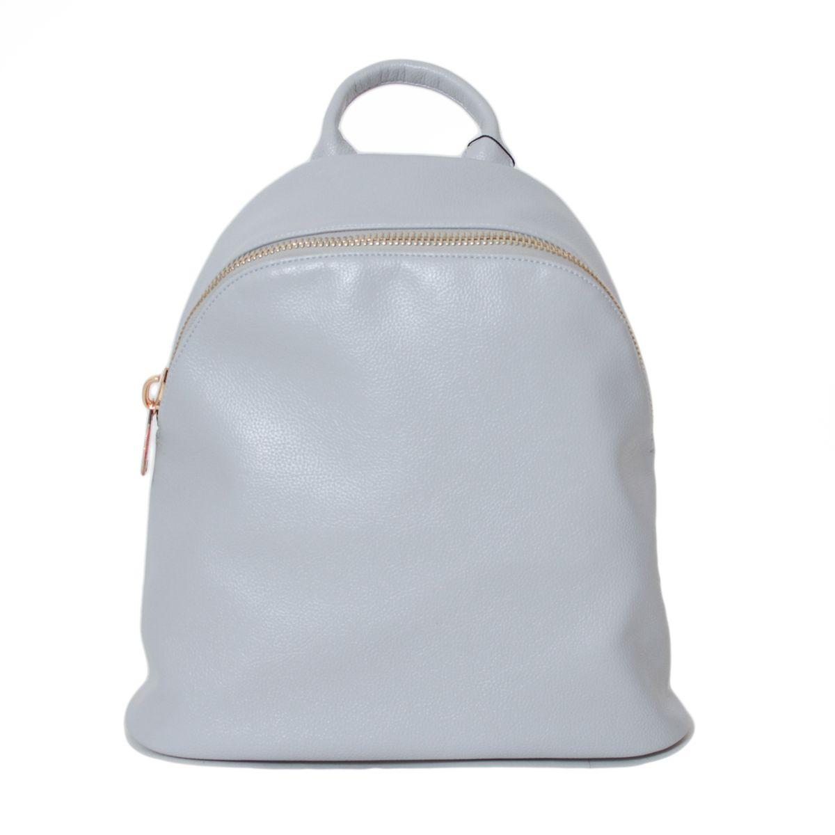 Рюкзак женский Flioraj, цвет: серый. 2137-1BP-001 BKЗакрывается на молнию. Внутри одно отделение, один карман на молнии, два открытых кармана. Снаружи один карман на молнии. Высота ручки - 8 см.