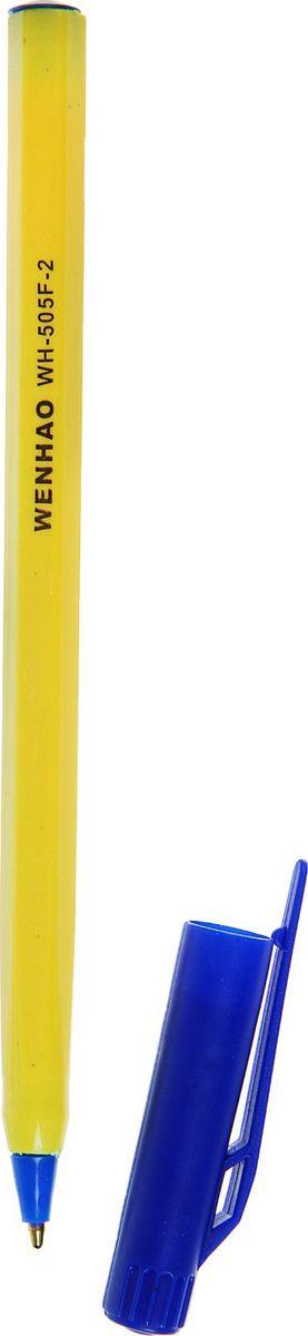 Ручка шариковая 505F-2 синяя639288Ручка шариковая 505F-2 стержень синий, желтый корпус с синим колпчком — классическая шариковая ручка. Если вы ценитель качества, удобства и не любите отвлекаться на разные мелочи, то этот товар для вас. Шариковый пишущий узел и паста на масляной основе сделали такой вид ручки самым распространенным и популярным во всем мире. Шариковые ручки самые экономичные, их надолго хватает. Писать этими ручками легко и удобно, густые чернила не растекаются на бумаге и не вытекают при переноске. Выгодно заказывайте шариковые ручки оптом на нашем сайте — выбирайте практичность и надежность.