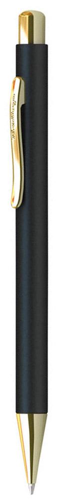 Berlingo Ручка шариковая Golden Standard цвет корпуса черный золотистыйCPs_72801Стильная и удобная шариковая ручка Berlingo Golden Standard с высококачественными чернилами обеспечивает ровное и мягкое письмо. Автоматическая шариковая ручка Berlingo изготовлена из меди и покрыта лаком. Элементы декора выполнены в золотистом цвете. Форма корпуса ручки - круглая. Диаметр пишущего узла - 0,7 мм. Цвет чернил - Шариковая ручка Berlingo Golden Standard упакована в пластиковый футляр.