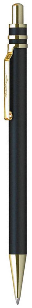 Berlingo Ручка шариковая Silver Premium цвет корпуса черный золотистый610842Стильная и удобная шариковая ручка Berlingo Silver Premium с высококачественными чернилами обеспечивает ровное и мягкое письмо.Элегантная автоматическая шариковая ручка Berlingo Silver Premium изготовлена из меди и покрыта лаком. цвет корпуса ручки - черный, а элементы ручки - золотистые. Цвет чернил - синий. Диаметр пишущего узла - 0,7 мм. Ручка упакована в индивидуальный пластиковый футляр.