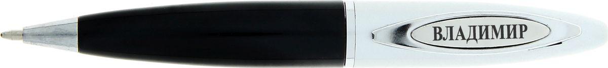 Ручка шариковая Владимир цвет корпуса серебристый черный синяя72523WDРучка в коробке Владимир - это не только качественная и удобная письменная принадлежность, но и яркий оригинальный аксессуар для стильных мужчин. С такой ручкой каждый может почувствовать себя уникальным, ведь она не просто красивая и функциональная, она – предназначается именно вам! Корпус ручки, выполненный в черно-золотом цвете, выгодно подчеркнет любой образ. Благодаря поворотному механизму вы ни за что не оставите на одежде чернильное пятно и сможете всегда носить ее с собой!