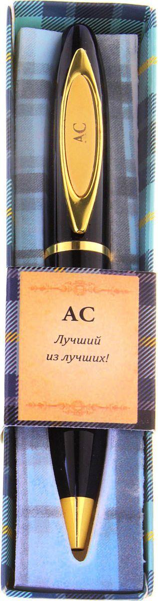 Ручка шариковая От всего сердца Ас синяя585292При современном темпе жизни без ручки никуда, и одним из важных критериев при ее выборе является внешний вид и механизм, ведь это не только письменная принадлежность, но и стильный аксессуар. А также ручка – это отличный подарок. Наша уникальная разработка Ручка сувенирная АС объединила в себе классическую форму и оригинальный дизайн. Она выполнена в лаконичном черно-золотом цвете, с изысканной гравировкой на креплении. Благодаря поворотному механизму вы никогда не поставите чернильное пятно на одежде и будете на высоте.