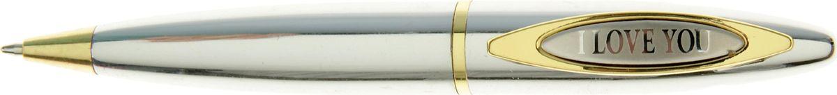 Ручка шариковая I love you синяяPP-001Очаровательные подарки не обязательно должны быть большими. Порой, достаточно всего лишь письменной ручки. Она давно стала незаменимым аксессуаром, который должен быть в сумочке каждой девушки. Наша уникальная разработка Ручка сувенирная I love you придется по вкусу любой ценительнице прекрасных и функциональных аксессуаров. Сочетая в себе два классических цвета – золотистый и серебряный, с эффектной гравировкой и удобным поворотным механизмом, она становится одним из лучших подарков по поводу и без.