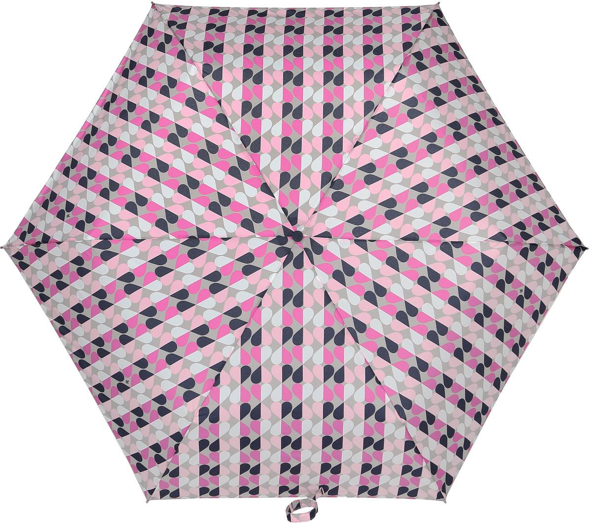 Зонт женский Fulton, механический, 3 сложения, цвет: розовый, бежевый. L553-3373L553-3373 GeoHeartСтильный механический зонт Fulton имеет 3 сложения, даже в ненастную погоду позволит вам оставаться стильной. Легкий, но в тоже время прочный алюминиевый каркас состоит из шести спиц с элементами из фибергласса. Купол зонта выполнен из прочного полиэстера с водоотталкивающей пропиткой. Рукоятка закругленной формы, разработанная с учетом требований эргономики, выполнена из каучука. Зонт имеет механический способ сложения: и купол, и стержень открываются и закрываются вручную до характерного щелчка.