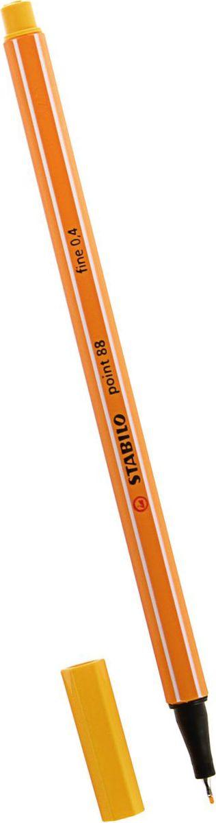 STABILO Ручка капиллярная Point 88 цвет чернил желтый72523WDКапиллярная ручка STABILO Point 88 идеально подходит для легкого и мягкого письма, черчения, рисования и раскрашивания.Металлический фиксатор наконечника дает возможность работать с линейками и трафаретами. Высокое качество и большой запас чернил существенно увеличивают срок службы ручки. Чернила на водной основе.Цвет колпачка соответствует цвету пасты. Толщина линии - 0,4 мм.