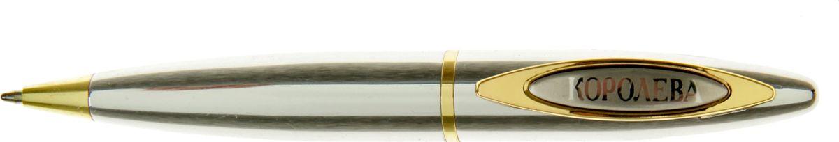 Ручка шариковая Королева красоты синяя730392Очаровательные подарки не обязательно должны быть большими. Порой, достаточно всего лишь письменной ручки. Она давно стала незаменимым аксессуаром, который должен быть в сумочке каждой девушки. Наша уникальная разработка Ручка Королева красоты придется по вкусу любой ценительнице прекрасных и функциональных аксессуаров. Сочетая в себе два классических цвета – золотистый и серебряный, с эффектной гравировкой и удобным поворотным механизмом, она становится одним из лучших подарков по поводу и без.