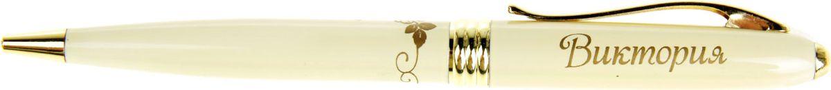 Ручка шариковая Тайна имени Виктория синяя865610Хотите сделать по-настоящему индивидуальный подарок? Тогда вам непременно понравится стильная и удобная именная . Выполненная в неповторимо нежном цветовом сочетании пастельного и золотого оттенков, она прекрасно дополнит образ своей обладательницы. А имя, выгравированное уникальным художественным шрифтом, придает изделию изысканность и шарм! Поворотный механизм надежен и удобен в повседневном использовании – ручка не откроется случайно и не оставит синих чернильных пятен на одежде. Очаровательная коробочка с красочным цветочным принтом закрывается на скрытую магнитную кнопочку.