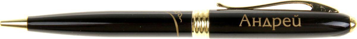 Ручка шариковая Тайна имени Андрей синяя865613Хотите сделать по-настоящему индивидуальный подарок? Тогда вам непременно понравится стильная и удобная именная . Выполненная в эффектной черно-золотистый цветовой гамме, она прекрасно дополнит образ своего обладателя и, без сомнения, станет излюбленным аксессуаром. А имя, выгравированное классическим шрифтом, придает изделию неповторимую лаконичность. Поворотный механизм надежен и удобен в повседневном использовании – ручка не откроется случайно и не оставит синих чернильных пятен на одежде. Оригинальная коробка в стиле ретро понравится любому мужчине и сделает такой подарок еще более желанным!