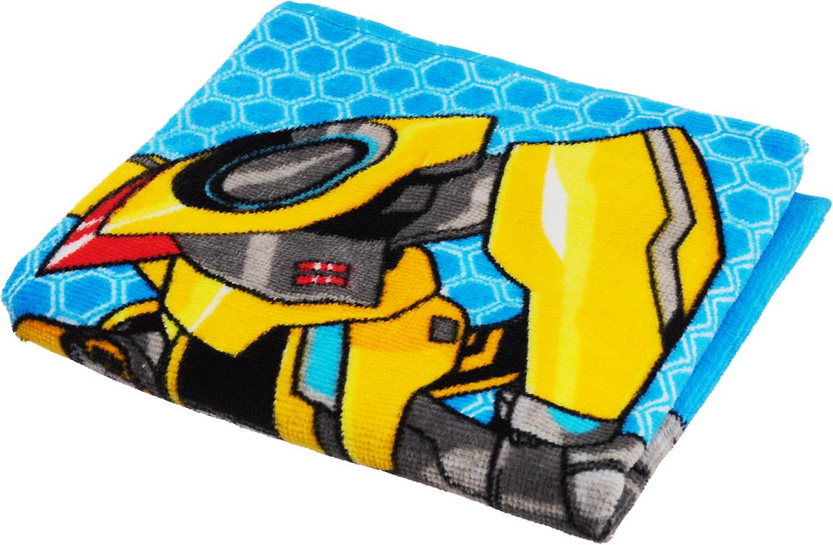 Bravo Полотенце детское Трансформеры цвет голубой желтый 33 x 70 см