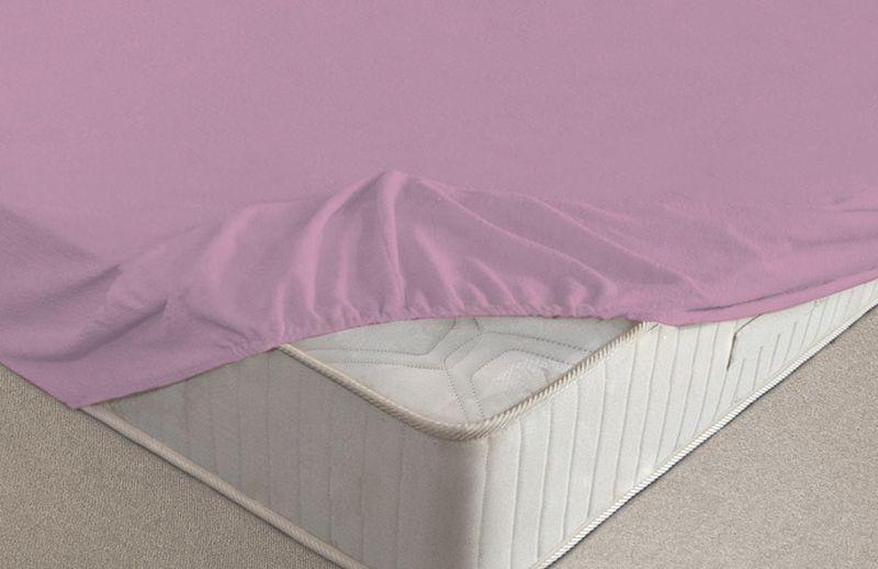 Простыня на резинке Ecotex, махровая, цвет: фиолетовый, 90 х 200 см12245Махровые простыни на резинке сшиты из высококачественного махрового полотна, окрашены стойкими экологически безопасными красителями. Они уже успели завоевать признание потребителей благодаря своим практичным характеристикам. Имеют резинку по всему периметру, что даёт возможность надежно зафиксировать простыню на матрасе, тем самым создавая здоровый и комфортный сон. Натяжные махровые простыни довольно практичны, т.к. махровое полотно долговечно. Выолнены из 100% хлопка и не содержат синтетических добавок.