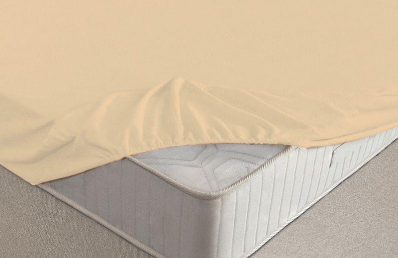 Простыня на резинке Ecotex, махровая, цвет: персиковый, 180 х 200 смЛСПР-160/5Махровые простыни на резинке сшиты из высококачественного махрового полотна, окрашены стойкими экологически безопасными красителями. Они уже успели завоевать признание потребителей благодаря своим практичным характеристикам. Имеют резинку по всему периметру, что даёт возможность надежно зафиксировать простыню на матрасе, тем самым создавая здоровый и комфортный сон. Натяжные махровые простыни довольно практичны, т.к. махровое полотно долговечно. Выолнены из 100% хлопка и не содержат синтетических добавок.