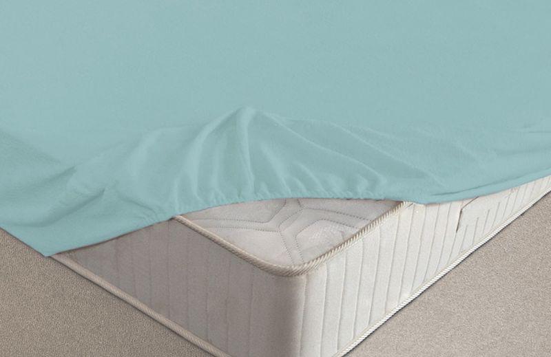 Простыня на резинке Ecotex, махровая, цвет: голубой, 200 х 200 смПРМ20 голубойМахровые простыни на резинке сшиты из высококачественного махрового полотна, окрашены стойкими экологически безопасными красителями. Они уже успели завоевать признание потребителей благодаря своим практичным характеристикам. Имеют резинку по всему периметру, что даёт возможность надежно зафиксировать простыню на матрасе, тем самым создавая здоровый и комфортный сон. Натяжные махровые простыни довольно практичны, т.к. махровое полотно долговечно. Выолнены из 100% хлопка и не содержат синтетических добавок.