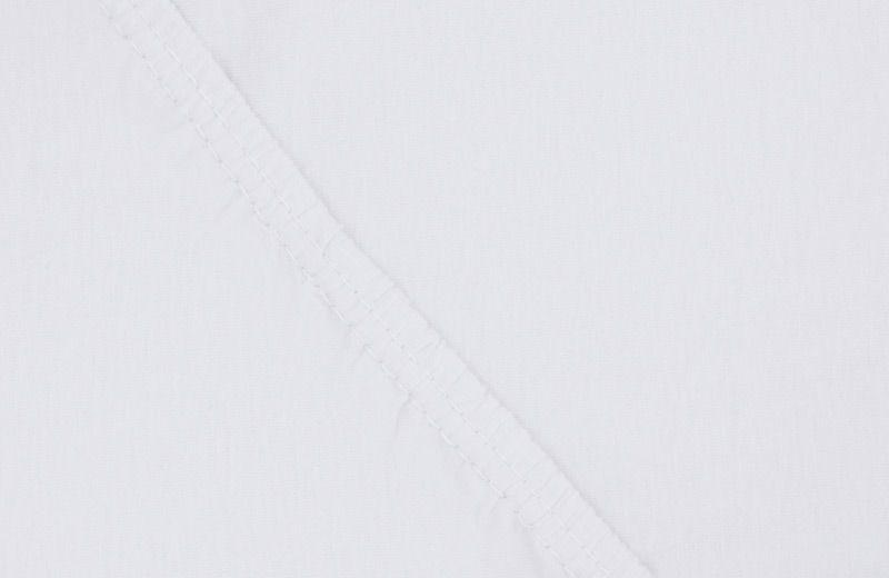 Простыня на резинке Ecotex, цвет: белый, 160 х 200 смПРТ16 белыйЗдоровый сон – залог хорошего самочувствия на протяжении всего дня. Простыня на резинке по всему периметру – это очень удобно! Она всегда ровно, без единой морщинки, застилает матрас. Легко заправляется и фиксируется с помощью «юбки» с резинкой по всему периметру. Нежное прикосновение к телу бархатного на ощупь хлопка, мягкая фактура ткани – вот основное преимущество трикотажных простыней на резинке. Они практичны в уходе, не требуют глажения после стирки, мягкие, экологичные, защищают матрас от загрязнений.