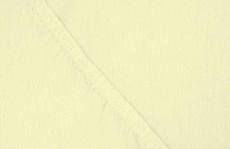 Простыня на резинке Ecotex, цвет: желтый, 160 х 200 см9135Здоровый сон – залог хорошего самочувствия на протяжении всего дня. Простыня на резинке по всему периметру – это очень удобно! Она всегда ровно, без единой морщинки, застилает матрас. Легко заправляется и фиксируется с помощью «юбки» с резинкой по всему периметру. Нежное прикосновение к телу бархатного на ощупь хлопка, мягкая фактура ткани – вот основное преимущество трикотажных простыней на резинке. Они практичны в уходе, не требуют глажения после стирки, мягкие, экологичные, защищают матрас от загрязнений.