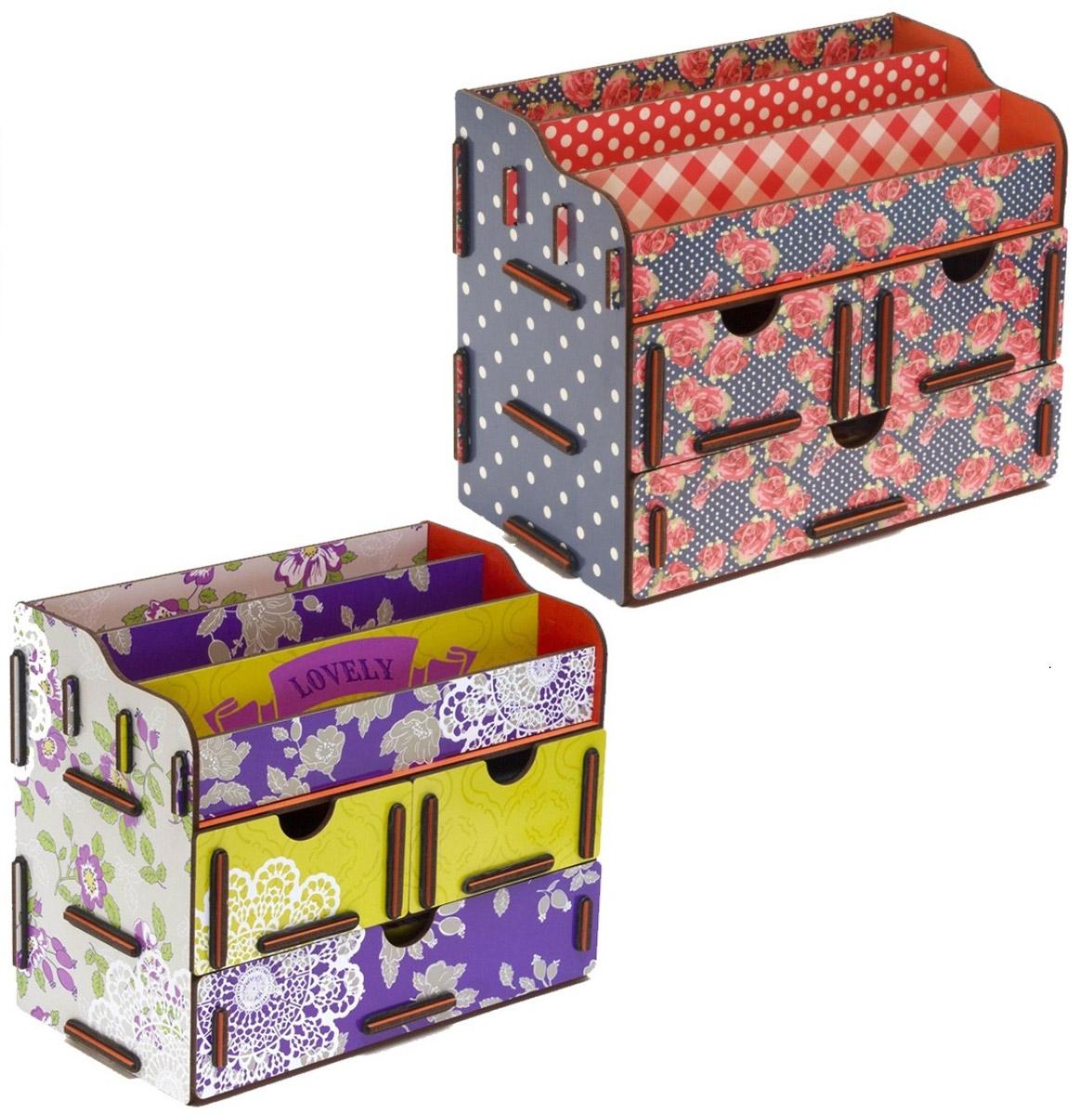 Набор шкатулок Homsu Благоухание лепестков, для украшений, 2 штDEN-05Этот комплект из оригинальных сундучков имеет множество полочек сверху для хранения косметики, парфюмерии и аксессуаров, а также два маленьких ящичка размером 11см на 14,5см и один большой ящик размером 22см на 14,5см, которые позволят разместить в них все самое необходимое и сокровенное для каждой женщины. Шкатулочки можно поставить на стол, они станут отличным дополнением интерьера. 240х140х190; 240х140х190