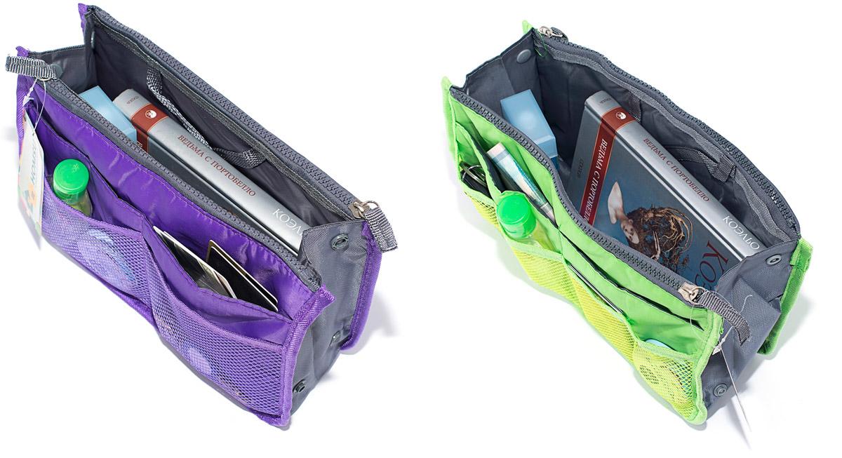 Набор косметичек Homsu, цвет: зеленый, фиолетовый, 28 х 10 х 17 см, 2 штDEN-41Модный и стильный современный дизайн, а также высокая практичная польза – в этих органайзерах очень органично объединены несколько плюсов. Изделия обладают крепкой ручкой, поэтому их легко можно использовать и отдельно от сумки. Если же вставить органайзеры в сумку, вы получите превосходную возможность раз и навсегда навести в ней идеальный порядок, который будет легко поддерживать, распределив все вещи по отдельным кармашкам. 280x100x170; 280x100x170