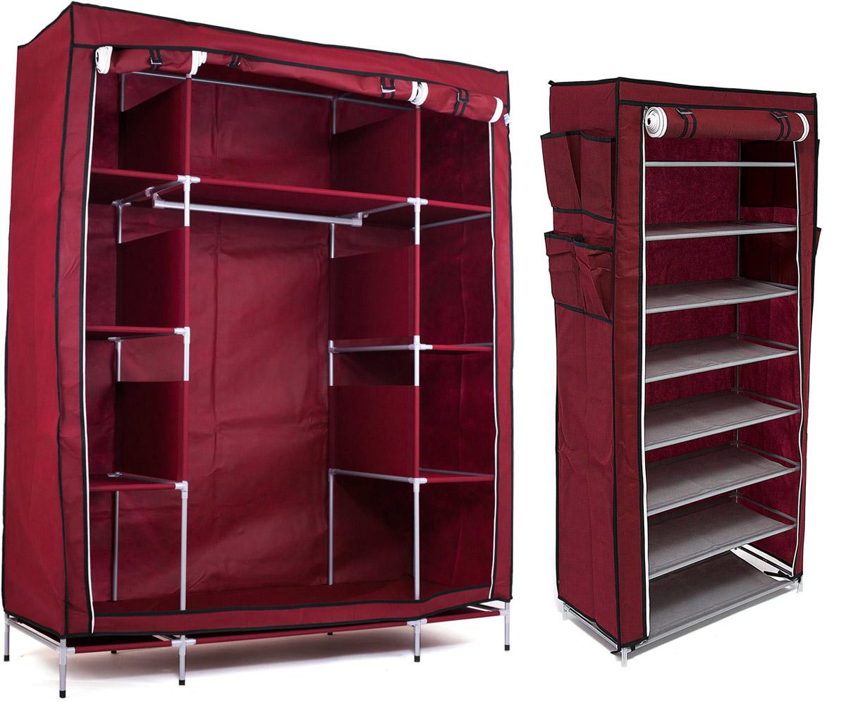 Набор кофров для хранения Homsu, цвет: бордовый, 2 штDEN-43Уникальный дизайн этого комплекта станет настоящим украшением для любого интерьера. Практичная составляющая подобной мебели также вне сомнений. Лёгкие и прочные устойчивые конструкции из каркасов и тканевой обивки могут быть легко собраны вами без посторонней помощи, буквально за несколько минут. Такая мебель будет всегда удобной и максимально практичной, ведь верхнюю тканевую часть при надобности можно всегда постирать либо же попросту поменять на аналогичную другого цвета. Кроме того, такие конструкции всегда будут отличным решением для того, кому по душе мобильность и постоянная смена обстановки. 1400х500х1750; 600х300х1360