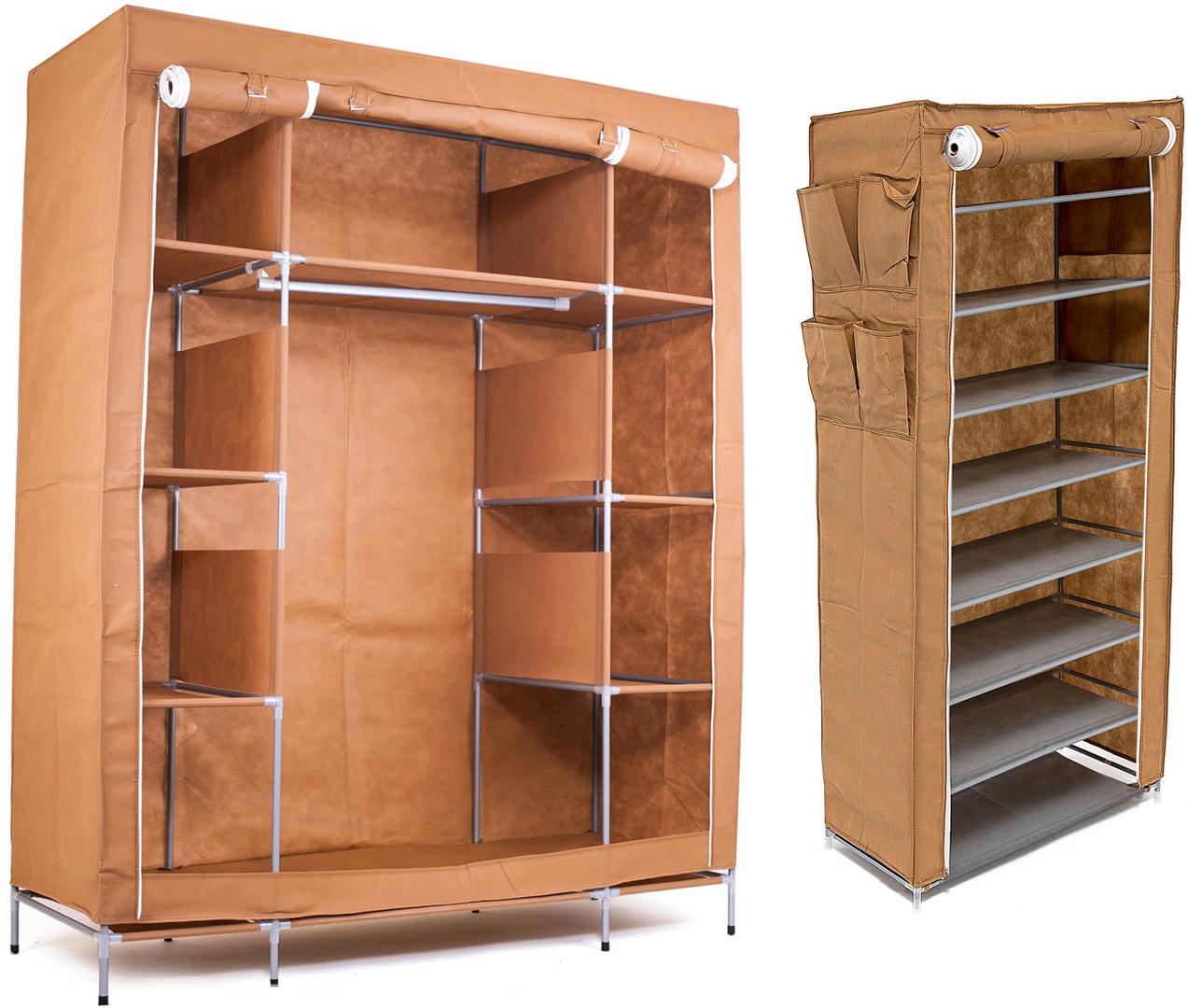Набор кофров для хранения Homsu, цвет: коричневый, 2 штDEN-44Уникальный дизайн этого комплекта станет настоящим украшением для любого интерьера. Практичная составляющая подобной мебели также вне сомнений. Лёгкие и прочные устойчивые конструкции из каркасов и тканевой обивки могут быть легко собраны вами без посторонней помощи, буквально за несколько минут. Такая мебель будет всегда удобной и максимально практичной, ведь верхнюю тканевую часть при надобности можно всегда постирать либо же попросту поменять на аналогичную другого цвета. Кроме того, такие конструкции всегда будут отличным решением для того, кому по душе мобильность и постоянная смена обстановки. 1400х500х1750; 600х300х1360