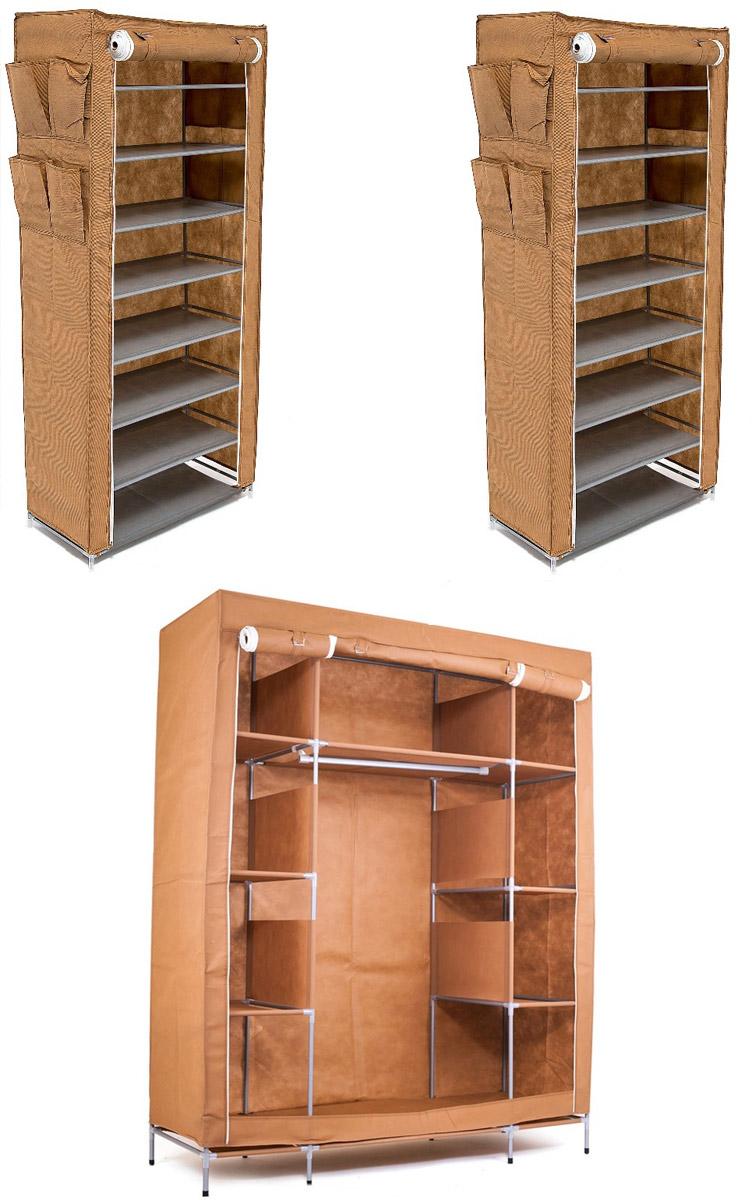 Набор кофров для хранения Территория порядка, цвет: коричневый, 3 штDEN-50Уникальный дизайн этого комплекта станет настоящим украшением для любого интерьера. Практичная составляющая подобной мебели также вне сомнений. Лёгкие и прочные устойчивые конструкции из каркасов и тканевой обивки могут быть легко собраны вами без посторонней помощи, буквально за несколько минут. Такая мебель будет всегда удобной и максимально практичной, ведь верхнюю тканевую часть при надобности можно всегда постирать либо же попросту поменять на аналогичную другого цвета. Кроме того, такие конструкции всегда будут отличным решением для того, кому по душе мобильность и постоянная смена обстановки. 1400х500х1750; 600х300х1360; 600х300х1360