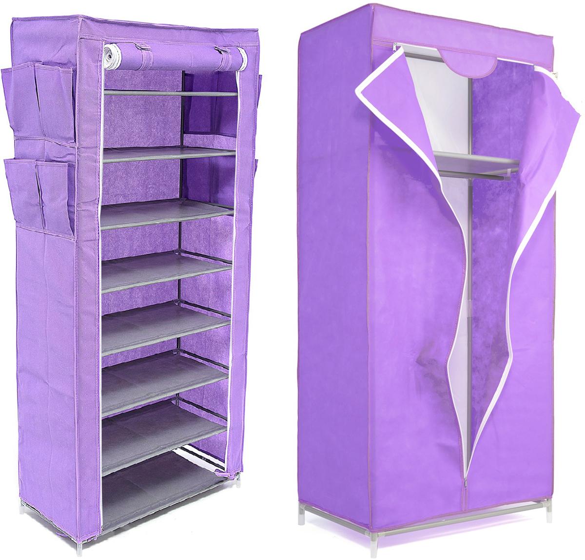 Набор кофров для хранения Homsu, цвет: фиолетовый, 2 предметаDEN-56Уникальный дизайн этого комплекта станет настоящим украшением для любого интерьера. Практичная составляющая подобной мебели также вне сомнений. Лёгкие и прочные устойчивые конструкции из каркасов и тканевой обивки могут быть легко собраны вами без посторонней помощи, буквально за несколько минут. Такая мебель будет всегда удобной и максимально практичной, ведь верхнюю тканевую часть при надобности можно всегда постирать либо же попросту поменять на аналогичную другого цвета. Кроме того, такие конструкции всегда будут отличным решением для того, кому по душе мобильность и постоянная смена обстановки. 680х450х1550; 600х300х1360