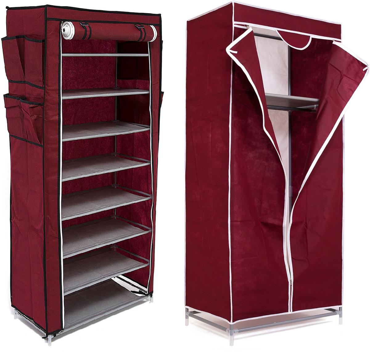 Набор кофров для хранения Homsu, цвет: бордовый, 2 предметаDEN-58Уникальный дизайн этого комплекта станет настоящим украшением для любого интерьера. Практичная составляющая подобной мебели также вне сомнений. Лёгкие и прочные устойчивые конструкции из каркасов и тканевой обивки могут быть легко собраны вами без посторонней помощи, буквально за несколько минут. Такая мебель будет всегда удобной и максимально практичной, ведь верхнюю тканевую часть при надобности можно всегда постирать либо же попросту поменять на аналогичную другого цвета. Кроме того, такие конструкции всегда будут отличным решением для того, кому по душе мобильность и постоянная смена обстановки. 680х450х1550; 600х300х1360