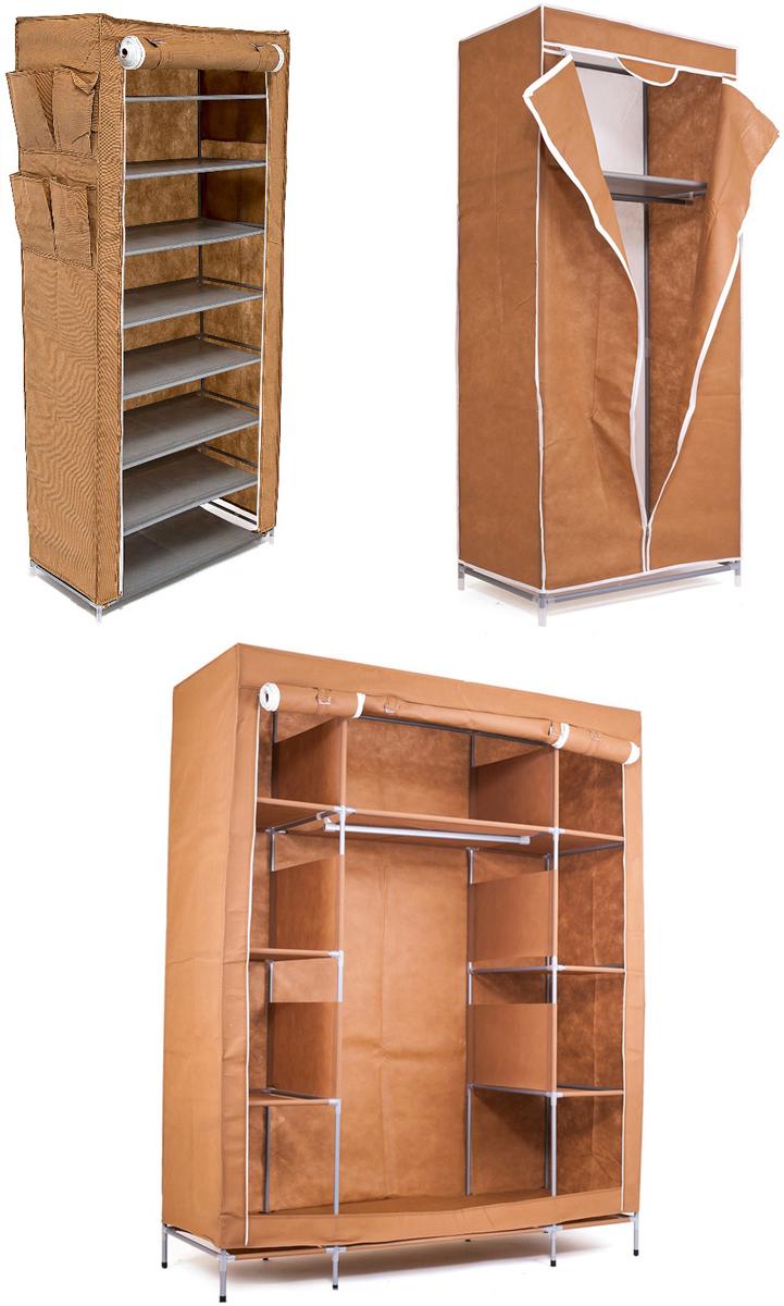 Набор кофров для хранения Homsu, цвет: коричневый, 3 предметаDEN-59Уникальный дизайн этого комплекта станет настоящим украшением для любого интерьера. Практичная составляющая подобной мебели также вне сомнений. Лёгкие и прочные устойчивые конструкции из каркасов и тканевой обивки могут быть легко собраны вами без посторонней помощи, буквально за несколько минут. Такая мебель будет всегда удобной и максимально практичной, ведь верхнюю тканевую часть при надобности можно всегда постирать либо же попросту поменять на аналогичную другого цвета. Кроме того, такие конструкции всегда будут отличным решением для того, кому по душе мобильность и постоянная смена обстановки. 1400х500х1750; 680х450х1550; 600х300х1360