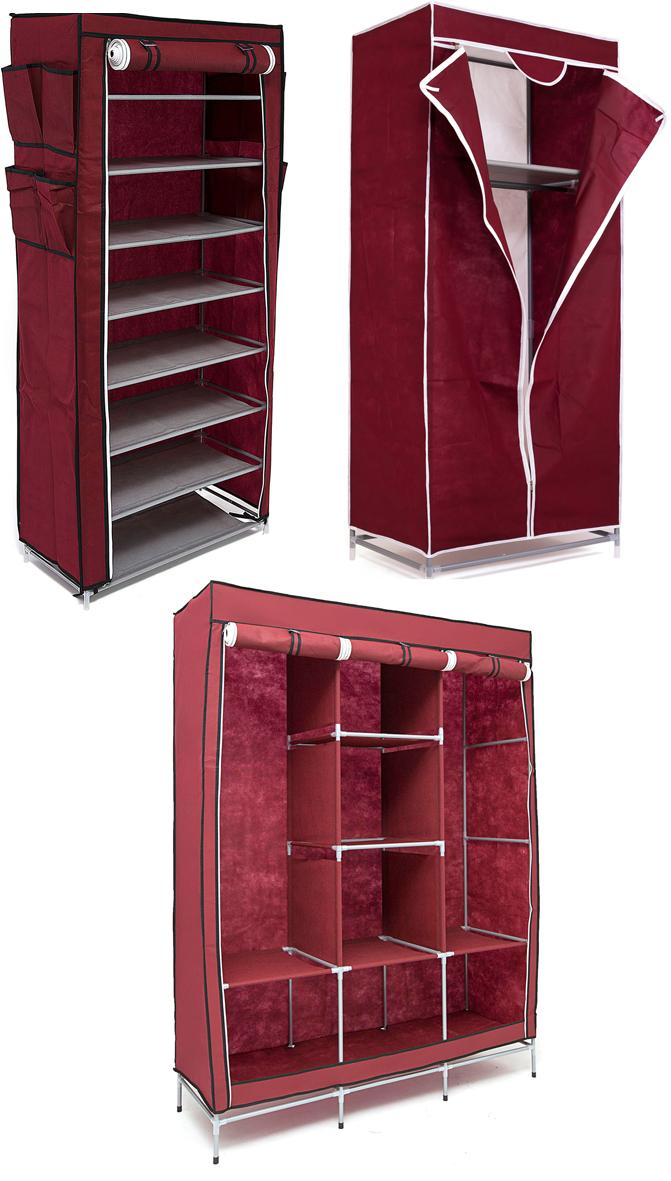 Набор кофров для хранения Homsu, универсальный, цвет: бордовый, 3 штDEN-63Уникальный дизайн этого комплекта станет настоящим украшением для любого интерьера. Практичная составляющая подобной мебели также вне сомнений. Лёгкие и прочные устойчивые конструкции из каркасов и тканевой обивки могут быть легко собраны вами без посторонней помощи, буквально за несколько минут. Такая мебель будет всегда удобной и максимально практичной, ведь верхнюю тканевую часть при надобности можно всегда постирать либо же попросту поменять на аналогичную другого цвета. Кроме того, такие конструкции всегда будут отличным решением для того, кому по душе мобильность и постоянная смена обстановки. 1300х450х1720; 680х450х1550; 600х300х1360
