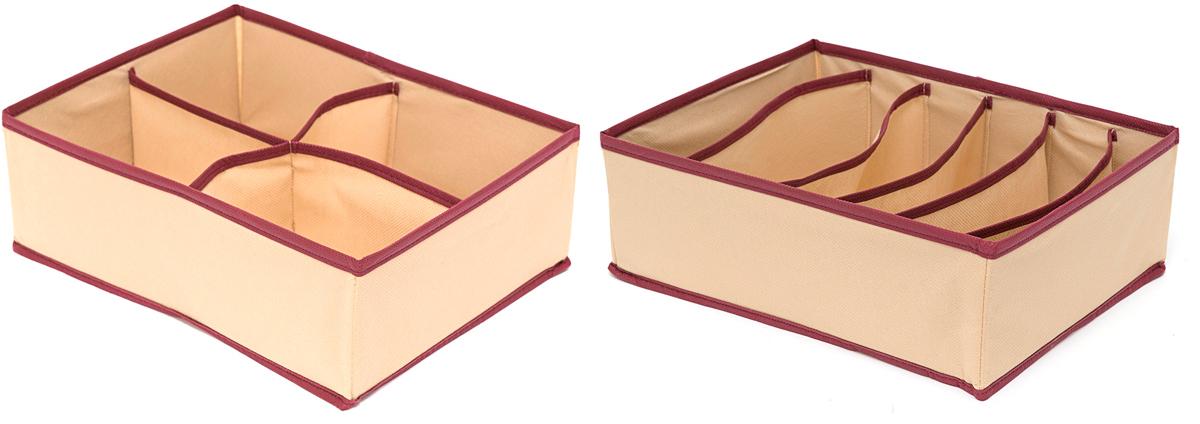 Набор органайзеров Homsu Стандарт, 10 ячеек, 2 штDEN-65Этот комплект состоит из 2х органайзеров для хранения вещей, оптимальный размер которых позволяет хранить в них любые вещи и предметы. Все они имеют жесткие борта, что является гарантией сохраности вещей. 310x240x110; 310x240x110