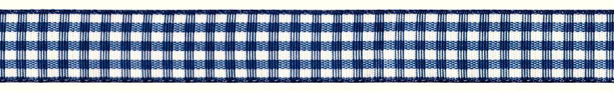 Лента декоративная Prym Клетка, цвет: белый, темно-синий, 15 мм, 3 м907355