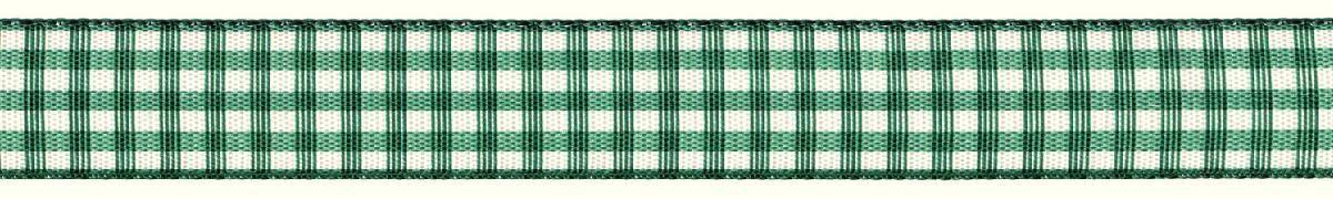 Лента декоративная Prym Клетка, цвет: белый, зеленый, 15 мм, 3 м907356