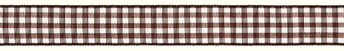 Лента декоративная Prym Клетка, цвет: белый, коричневый, 15 мм, 3 м907357