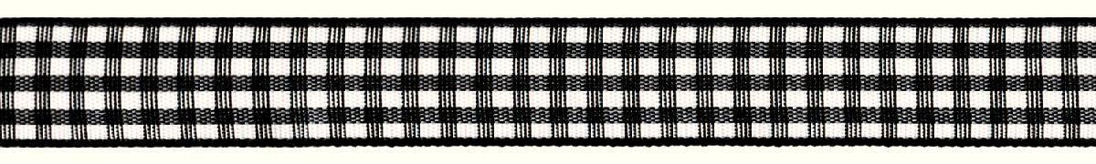 Лента декоративная Prym Клетка, цвет: белый, черный, 15 мм, 3 м907359